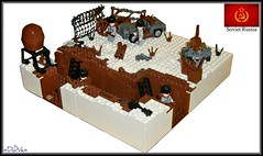 Lego ww2 -Russian Trench- (=DoNe=) Tags: world 2 by viktor war lego trench soviet custom done russian legoww2russiantrench