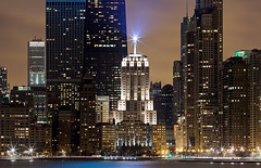 (Kevin Dickert) Tags: city urban chicago skyline architecture night downtown lakemichigan shore lakefront gettyimages johnhancockcenter aoncenter 135l palmolivebuilding lindberghbeacon eastlakeshoredrive canon5dmarkii iamhydrogen kevindickert