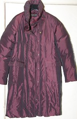 Purple long down filled coat (longyman) Tags: ladies abandoned rotting trash found clothing junk shiny coat down clothes jacket rubbish waste discarded nylon downcoat waterproof landfill thrown padded rotted downjacket dugup thrownaway nyloncoat pufferjacket bubblejacket puffajacket nylonjacket puffercoat puffa