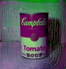 Tomato Soup 3C (tobysx70) Tags: pink toby color green andy manipulated project tomato polaroid sx70 soup magenta can tip shade warhol push sonar hancock campbells 70 impossible the px theimpossibleproject px70colorshadepush tobyhancock impossaroid