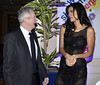 Louis Walsh, Ivian Sarcos (Miss World 2011) Variety Children's Charity Humanitarian Awards Gala Dinner at The Burlington Hotel Dublin, Ireland