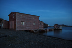 Night Shot (Candace Cunning) Tags: ocean water night newfoundland island shed candace wharf cunning candacecunning