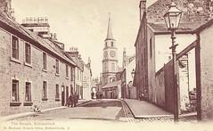 Kirkintilloch Cross and Steeple. (Paris-Roubaix) Tags: vintage scotland cross antique scottish steeple clocktower east postcards brae chambers kirkintilloch the dunbartonshire barony