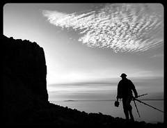The B/W Photographer (kenny barker) Tags: sky art silhouette clouds sunrise landscape scotland fife contemporary dreams society aberdour cityart artisticphotos daarklands
