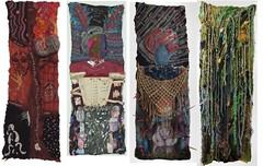 Transformations Panels 1-4 of 8 (FiberArtGirl) Tags: art quilt felting arts lisa foundation textile fabric jerome textiles dying bpd vsa borderline dbt illness mental dietz