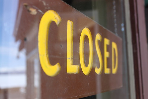 Closed Sign in Yellowstone by bmills, on Flickr