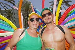 Maspalomas Gay Pride 2012 (Alex Bramwell) Tags: float flag canaryislands gaypride parade gay grancanaria maspalomas festival mardigras carnival spain rainbow couple colorful balloons
