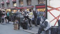 Jammin' on his iPad.... () Tags: sanfrancisco california unionsquare ipad coolmusic streetvideo strangesilvergorillaguy funtohearthisguyjam