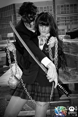 Gogo Yubari & un pazzo dei the Crazy 88's (Cosplayers Vicentini) Tags: cosplay gogoyubari