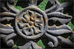 Medallion2 (Ernie Visk) Tags: california old green metal closeup canon rough anaheim corroded