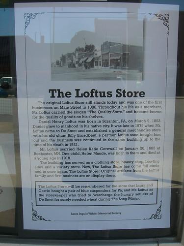 Loftus Store Plaque