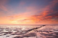 Sunset glow over the Wadden Sea near Cape North (Rijko) Tags: sunset waddenzee landscape landscapes wadden zonsondergang mud sunsetglow lowtide mudflats landschap landschappen waddensea avondrood capenorth laagwater kaapnoord waddenseacoast waddenzeekust