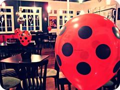 week 20/52 (Thami Griebler) Tags: red party vintage balloons lights vermelho bolinhas tables luzes festa poa mesas balões vagão
