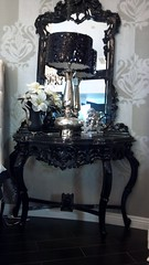 "8049 Sequined Lamps + 4555 Baroque Side Table With Mirror • <a style=""font-size:0.8em;"" href=""http://www.flickr.com/photos/43749930@N04/7282566010/"" target=""_blank"">View on Flickr</a>"