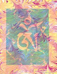 Om Ebru -Turkish Paper Marbling (Lucid Optic Lab) Tags: original art stone oregon painting paper portland energy paint nw meditate artist acrylic arte symbol contemporary vibrant or buddhist kunst traditional buddhism tibet tibetan positive script marbled om spiritual pnw radiant aum symbolism mantra vibration kozo ebru layered spiritualism tibetansymbol ebrusanati battal sanati ebrucu turkishpapermarbling dannyebru isligi overmarbled