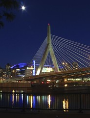 Zakim Bridge (mgstanton (running a few weeks behind)) Tags: bridge reflection boston night ma zakim tdgarden 52weeksinpix2012