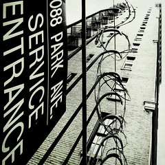 service entrance (fotobananas) Tags: nyc newyork fence manhattan entrance service friday uppereastside hff s95 fotobananas