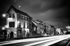 The Bay View in Swansea, with light trails (dean.cummings) Tags: longexposure blackandwhite white black swansea vintage nikon bayview lighttrails nikkor hdr