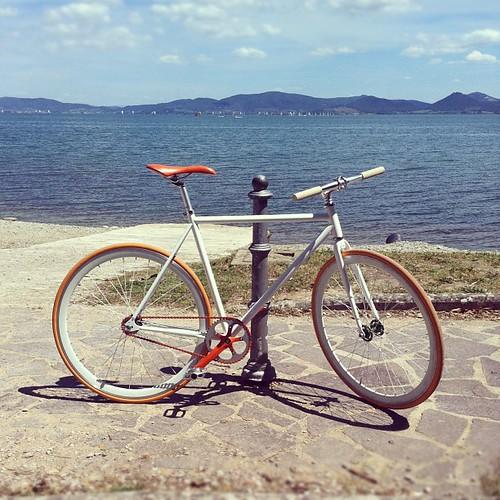 giretto lungolago inaugurale #loretta #fixedgear #fixedbike