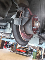 Saab 99 rear disc (thomasohlsson84) Tags: discbrake saab99 brakepads sonyericssonxperiaray