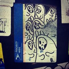 BONUS SAVES (billy craven) Tags: streetart chicago bunny skull sticker usps slaptag bonussaves label228 uploaded:by=instagram