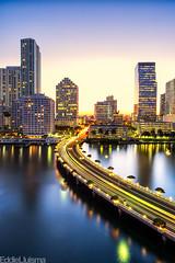 Miami (Eddie 11uisma) Tags: usa 3 seascape canon landscape golden key downtown cityscape nightscape florida miami mark hour l mandarin 5d usm oriental 1740mm f4 brickell