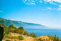45430021 (danimyths) Tags: ocean california mountains film beach nature water landscape coast waterfront pacific roadtrip pch pacificocean westcoast pacificcoastalhighway filmphotography