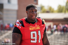 Maryland_White_on_Red_20160416_1911.jpg (hillels) Tags: park game college sports field sport photography one football spring team dj outdoor stadium maryland capitol practice terps byrd durkin testudo terp