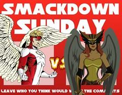 Angel VS Hawkgirl (Luigi Fan) Tags: angel comics dc vs marvel hawkgirl