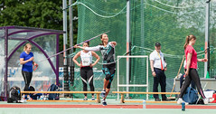 DSC_1198 (Adrian Royle) Tags: people field sport athletics jump jumping nikon track action stadium running run runners athletes sprint throw loughborough throwing loughboroughuniversity loughboroughsport