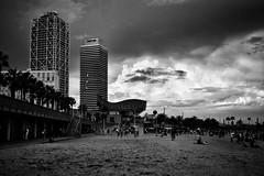 bar celona cloudbusting (paddy_bb) Tags: barcelona travel bw cloud seascape beach strand spain sand mediterranean cityscape catalonia spanien 2016 nikond5300 paddybb