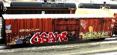 csaw - trouble (timetomakethepasta) Tags: csaw trouble tbk ai deface bonus hcm el kevin harris upfuk hitop freight train graffiti boxcar rio grande drgw