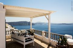 Santorini terrace (adamtolnai) Tags: ocean travel blue summer vacation sky island santorini greece 18105 d7100