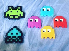 I may have a problem. Perler beads are like coloring- creative and mindless and a small time investment. Plus, so cute! #perlerbeads #spaceinvaders #pacman #crafts #shipfam (ClevrCat) Tags: cute beads time crafts small spaceinvaders creative may like have problem pacman coloring plus investment perler mindless perlerbeads i instagram ifttt shipfam