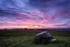 sunset rocks (D Cation) Tags: sunset sky rock scotland boulders moor gloaming eaglesham bonnyton crawstane