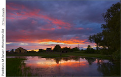 Paddock At Sunset, Wolverton Rd (jwvraets) Tags: grimsby sunset clearingstorm clouds farm paddock horse pond reflection wolvertonroad niagara niagaraescarpment opensource rawtherapee gimp nikon d7100 nikkor1224mm