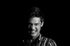Grrrrr..... (Cho Shane) Tags: portrait people blackandwhite man black guy monochrome blackbackground composition wow dark creativity blackwhite amazing nice scary nikon head background low creative dramatic sigma monochromatic headshot toughguy portraiture angry stunning mad dslr drama lowkey amateur tough grr sigma50mm portraitphotography sigmalens creativephotography lowkeyphotography dramaticportrait stunningshot lowkeyportrait dslrcamera amazingcomposition dslrphotography stunningmoment nikond5300