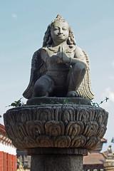 119. Garuda Statue, Durbar Square, Bhaktapur City, Kathmandu Valley, Nepal (Jay Ramji's Travels) Tags: nepal bhaktapur kathmanduvalley durbarsquare piller garudastatue bhaktapurcity