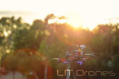 Falcon drone Sunset