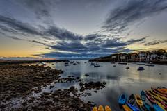 Sunset on Rockport Harbor (PapaDunes) Tags: ocean sunset nighttime northshore capeann rockportma rockportharbor