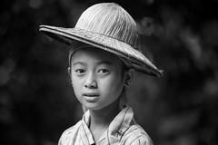 Vietnam: jeune fille des montagnes de Bao-Lac. (claude gourlay) Tags: portrait people blackandwhite bw face asia retrato nb vietnam asie ethnic ritratti indochine caobang tonkin baolac ethnie minorit claudegourlay