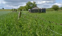 Old Barn. (Sunchild57 Photography.) Tags: countryside fields oldbarn ruralengland fencefriday dentoncambridgeshire