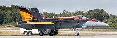 QIAS 2016 - Hot Hornet (Jay:Dee) Tags: qias quinte international air show 2016 cfb trenton canadian forces base airshow aviation aircraft military jet fighter cf18 cf18a cf188 hornet demonstration bcatp british commonwealth training plan