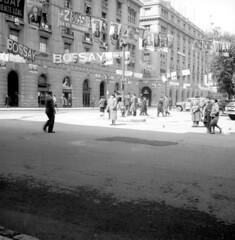 1958 propaganda electoral plaza de Armas eleccion presidencial (santiagonostalgico) Tags: chile santiago urbano antiguo patrimonio santiagonostalgico