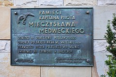 Kapitan Mieczysaw Medwecki (bazylek100) Tags: world plaque memorial war aviation wwii poland polska plate krakw cracow commemorative neubert p11 balice tablica wojna pzl krakoff polishairforce p11c medwecki gny firstairvictory firstairkill