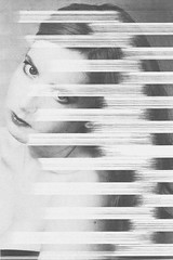 'Burn Out V2' Film Still #197 (alice & her cameras) Tags: blackandwhite bw white faded photocopy burnout xerox vhs photocopies videotape lined fadeout inkjet photocopied alicedickinson portfolio2013