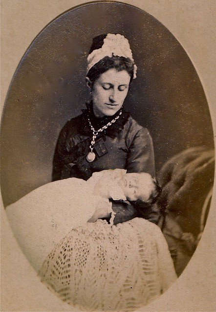 "Mary Jane Stayman Culley with ""Alice Maud Culley, 8 Weeks Old, Aug. 1879,"" English Albumen Carte de Visite"