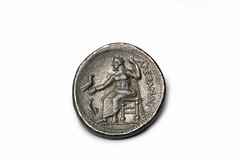greeksylloge653 (AW38) Reverse (Manchester Museum) Tags: museum silver manchester coin ancient zeus worlds alexander manchestermuseum tetradrachm themanchestermuseum amphipolis ancientworlds