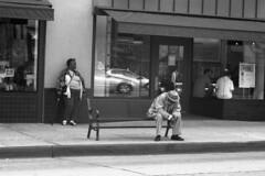 Pasadena Bus stop (el_molino12) Tags: bw white black film 3200