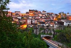 Veliko Tarnovo tunnel (mnecula) Tags: longexposure blue dawn lights evening europe tunnel bulgaria hour slowshutter d200 velikotarnovo nohdr colorphotoaward